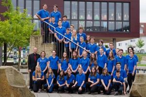 Das Jugendorchester des MVG beim Wertungsspiel 2015
