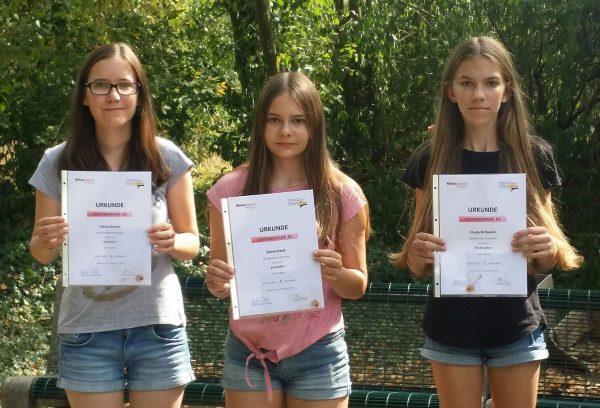 Tabea, Selina und Cindy beim D1 Lehrgang 2016