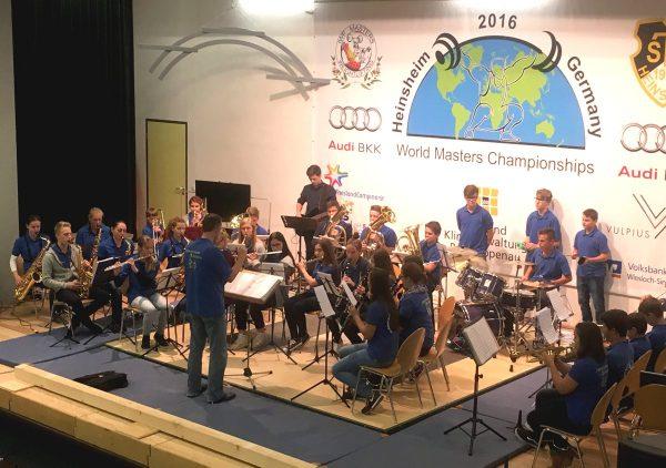 Unser Jugendorchester bei der WM der Gewichtheber in Heinsheim
