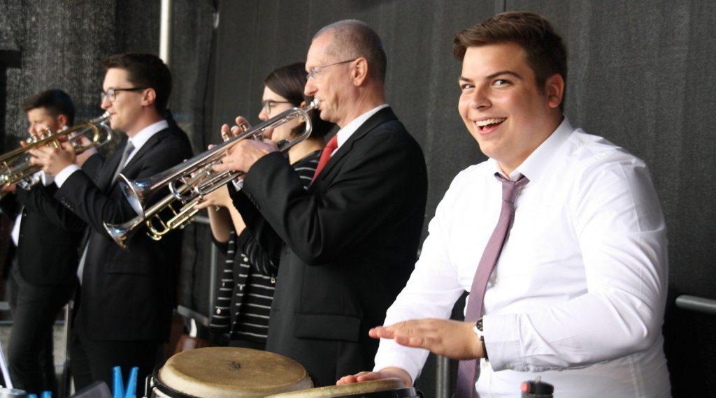 Big Band Trompeter beim Stadtfest 2018